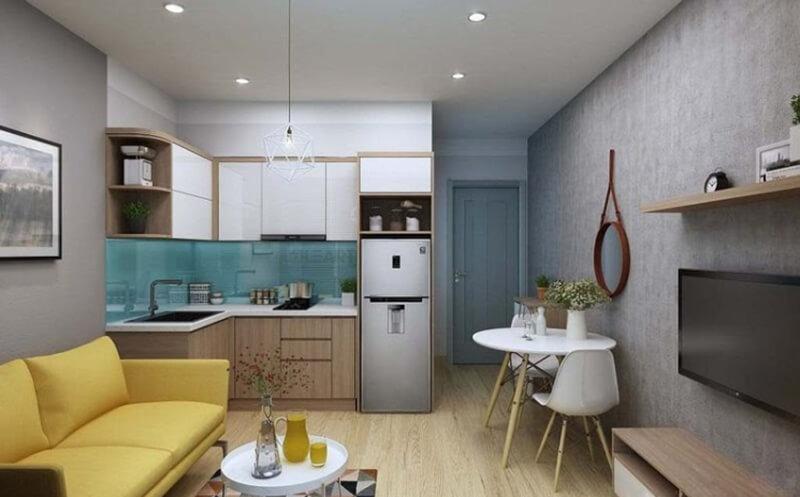 Với những căn nhà diện tích nhỏ thì bạn nên lựa chọn những vật đơn giản, thiết kế thanh nhã