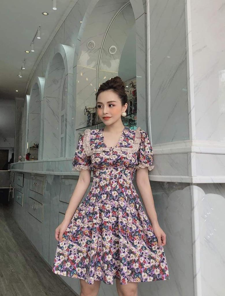 Đầm bánh bèo liền thân - kiểu váy mùa hè hot 2020