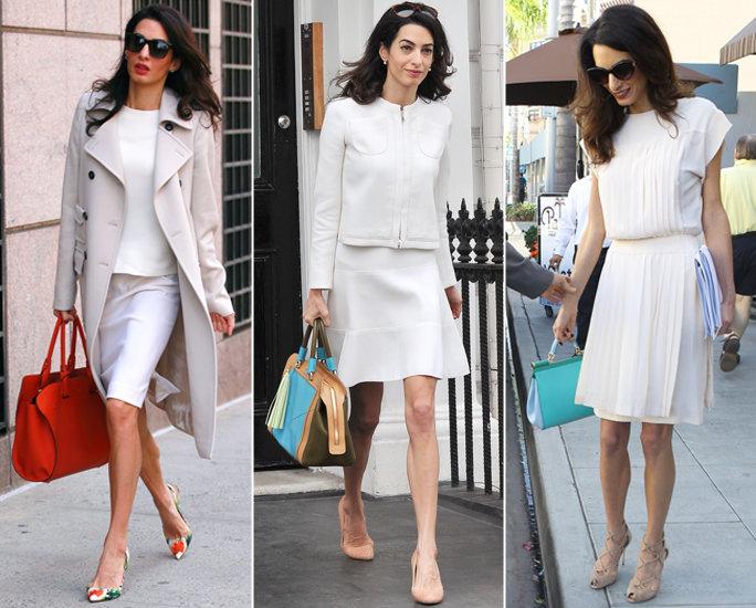 Váy công sở diện với giày cao gót